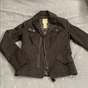 Black fitted Diesel military jacket